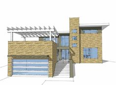 Eplans Contemporary-Modern House Plan - Excellent Indoor/Outdoor Interaction - 2592 Square Feet and 4 Bedrooms from Eplans - House Plan Code HWEPL68872