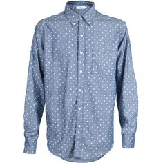 The Clean Seam Oxford in Blue Polka Dots - a great shirt for summer