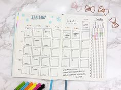 January Set Up & Templates - Kate Louise