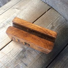 card holder salvaged wood business card personalized