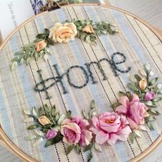 Wonderful Ribbon Embroidery Flowers by Hand Ideas. Enchanting Ribbon Embroidery Flowers by Hand Ideas. Etsy Embroidery, Embroidery Patterns Free, Embroidery For Beginners, Embroidery Hoop Art, Embroidery Designs, Embroidery Supplies, Embroidery Techniques, Embroidery Stitches, Flower Embroidery