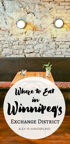 "Called Canada's ""most overlooked food destination"" by Air Canada, Winnipeg's food scene is having a moment. Much of it is happening in The Exchange District, home to the city's highest concentration o Visit Canada, Places To Eat, The Places Youll Go, Places To Travel, Lake Winnipeg, Stuff To Do, Things To Do, Canada Destinations, Viajes"