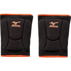 Perfect black and orange for Blackwater Volleyball Club Players - Knee Pads | Mizuno 480119 LR6 Highlighter Knee Pads