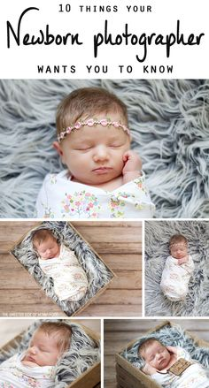 ten things your newborn photographer wants you to know!