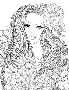 Adult Coloring Pages for Kids. 20 Adult Coloring Pages for Kids. Adult Coloring Page Lady Flowers Digital Coloring Page People Coloring Pages, Fall Coloring Pages, Fairy Coloring, Coloring Pages For Girls, Flower Coloring Pages, Mandala Coloring Pages, Animal Coloring Pages, Coloring Pages To Print, Printable Adult Coloring Pages