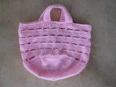 This is a stash bag made with Red Heart Super Saver baby pink. http://www.crochetbug.com/a-murder-of-stash-bags/