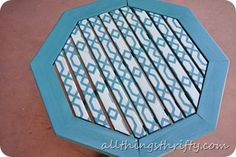 How to paint outdoor furniture--love this stencil idea!