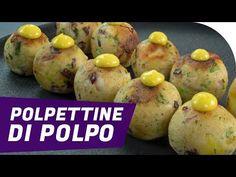 Ricetta svuotafrigo: Polpettine di polpo con maionese al curry Curry, Antipasto, Finger Foods, Octopus, Baked Potato, Tapas, Seafood, Food And Drink, Ethnic Recipes