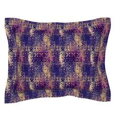 SMALL TILES PURPLE GOLD liquid 3 on Sebright by paysmage   Roostery Home Decor Pillow Shams, Pillows, Small Tiles, Web 2, Astrology Zodiac, Purple Gold, Spoonflower, Pillow Covers, Cotton Fabric