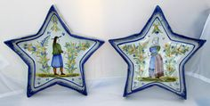 Quimper Star Raviers from Adolphe Porquier circa 1880. Photo courtesy of countryfrenchpottery.com