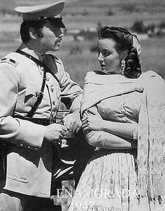 Maria Felix and Pedro Armendariz, Movie Enamorada, Mexico.
