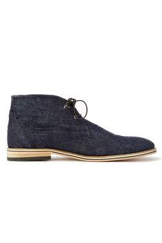 Kickers Kanning Plus Mid Top Shoe Mens Navy Blue Lace Up Formal Footwear