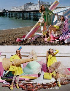 Spring 2012 Mulberry.  Models: Frida Gustavsson and Lindsey Wixson.  Photographer: Tim Walker.