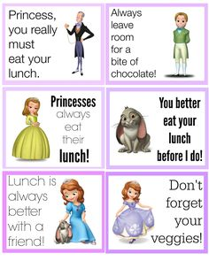 FREE Sofia Printable Back to School Lunch Box Notes {Disney Edition!}