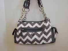 Monogrammed Quilted Chevron Purse by maggiesembroidery on Etsy, $45.00