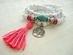 Yoga Bracelet  Yoga Jewellery  Boho Jewellery  by HandcraftedYoga, $28.00Loved & pinned by http://www.shivohamyoga.nl/ #yoga #mala #jewelry