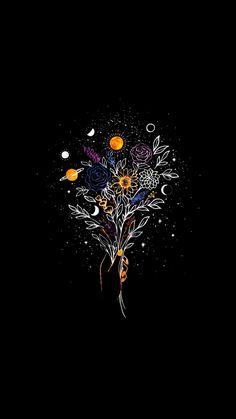 Black Phone Wallpaper, Tumblr Wallpaper, Galaxy Wallpaper, Disney Wallpaper, Wallpaper Backgrounds, Black Aesthetic Wallpaper, Aesthetic Iphone Wallpaper, Aesthetic Wallpapers, Witchy Wallpaper