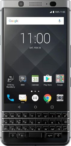 BlackBerry® - BlackBerry – KEYOne 4G LTE with 32GB Memory Unlocked Cell Phone for Verizon - Silver - Silver