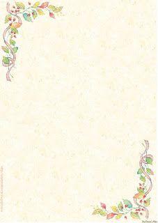 Papéis de Carta e Envelopes - Papel de Carta e Envelope - Papel de Carta e Envelope para imprimir: Flores - Floral com envelopes Page Borders Design, Border Design, Free Printable Stationery, Printable Paper, Borders For Paper, Borders And Frames, Wallpaper Qoutes, Pocket Letter, Envelopes