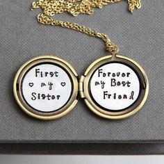First My Sister Forever My Best Friend Necklace SisterYou can find Sister gifts and more on our website.First My Sister Forever My Best Friend Necklace Sister Little Sister Gifts, Sister In Law Gifts, Birthday Gifts For Sister, Bestie Gifts, Friend Gifts, Birthday Ideas, Personalised Gifts For Sister, Personalized Gifts, Soul Sisters