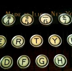 love the old type keys  ~Repinned Via Axelle Renard