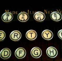 love the old type keys  ~Repinned Via Axelle Renard