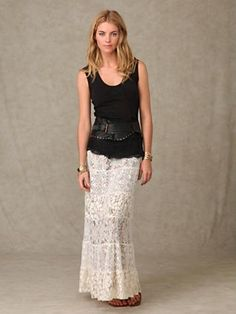Lace Embrace Skirt at Free People Clothing Boutique = LOVE this outfit!