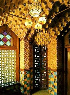 Salón de fumar, casa Vicens, 1885, Gaudi. Barcelona