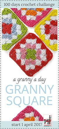 Every day a new granny square pattern. By Handwerkjuffie.