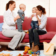 Get the baby around strangers and he/she will learn to develop a social connection with not only his parents but with the stranger that they are around.