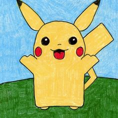 Drawing Gallery · Art Projects for Kids Drawing Projects, Art Projects, Painting For Kids, Art For Kids, Painting Canvas, Cartoon Drawings, My Drawings, Drawings For Boyfriend, Pikachu Art
