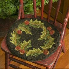 My first project was this Chair pad!  Had fun!  Mine doesn't look this great though!  LOL