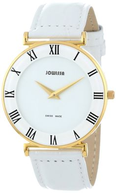 Women watches:  Women watches in white  Jowissa Women's J2.027.L Roma Gold PVD Roman Numeral Watch