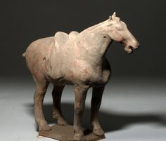 Chinese Tang Dynasty Pottery Horse : Lot 48