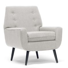 Simple, classic, and a touch retro, the Baxton Studio Levison Designer Accent Chair - Beige is just right for your living room. Classic Living Room, My Living Room, Living Room Chairs, Dining Rooms, Modern Furniture, Home Furniture, Basement Furniture, Furniture Styles, Nebraska Furniture Mart