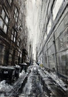 Valerio vous fait pénétrer dans sa vision des villes avec ses peintures impressionnantes | SooCurious