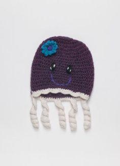 cb9ac62aefe Artículos similares a Jellyfish Hat Baby Alpaca 100% Handmade Peruvian  Alpaca Wool Hat en Etsy