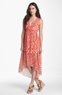Sweet Pea by Stacy Frati Print High/Low Chiffon Maxi Dress available at #Nordstrom