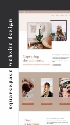 We help you make waves for your business with our oh-so-easy, all inclusive squarespace website templates, social media templates and creative brand identity design. Minimal Web Design, Graphic Design, Design Web, Website Design Layout, Website Design Inspiration, Web Layout, Personal Website Design, Design Layouts, Website Designs
