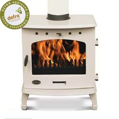 Carron 4.7 kW Cream Enamel DEFRA Multifuel Stove available for £600