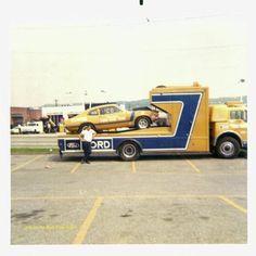Ford C series race car transporter yORK 1970 SSDR Photo