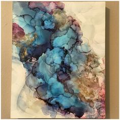"""""""Get Yourself Together"""" 8x10 alcohol ink on Claybord by NC artist Amanda Moody"""