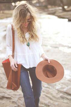 Boho Style.  Felt hats for days