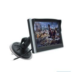 5 인치 자동차 모니터 TFT LCD 화면 HD 디지털 컬러 자동차 후면보기 모니터 지원 VCD/DVD/GPS/카메라