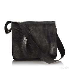 Fair trade messenger bag made from recycled rubber inner tubes. Totally waterproof!