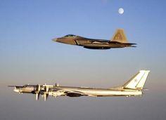 F-22 - ESCORTING RUSSIAN BEAR BACKFIRE BOMBER