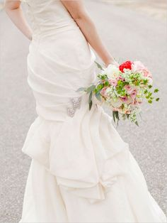jewel butterfly accessories on wedding dress #weddingdress #bride #weddingchicks http://www.weddingchicks.com/2014/02/10/elegant-valentines-day-ideas/