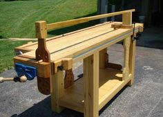 If a sliding deadman and a crochet got married and had a baby (well, actually if they had a litter), it might look like the workbench of Jan C. Goris of St. Louis, Mo. Goris's pine workbench is based on the French Roubo-style platform, but it has some modern workholding touches that are worth examining. … Read more »