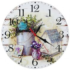 Clock, Herbs, Wall, Home Decor, Watch, Decoration Home, Room Decor, Clocks, Herb