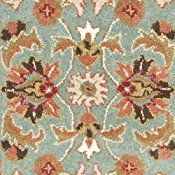 Safavieh Heritage Collection HG812B Handmade Blue and Brown Wool Runner, 2 feet 3 inches by 18 feet (2'3″ x 18′)